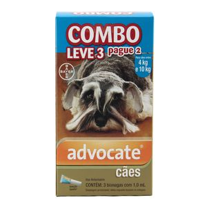 COMBO Advocate Cães 4 a 10kg Bayer Antipulgas