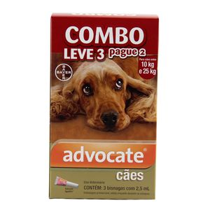 COMBO Advocate Cães 10 a 25kg 2,5ml Bayer