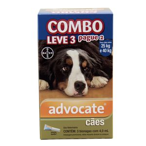 COMBO Advocate Cães 25 a 40kg 4ml Bayer
