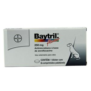Baytril Flavour 250mg 6 comprimidos Bayer