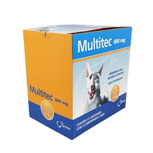 Vermífugo Multitec 800mg Cães 10kg Syntec Display 12 cx 4 comprimidos