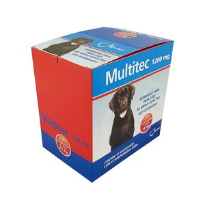 Vermífugo Multitec 1200mg Cães 15kg Syntec Display 12 cx 4 comprimidos
